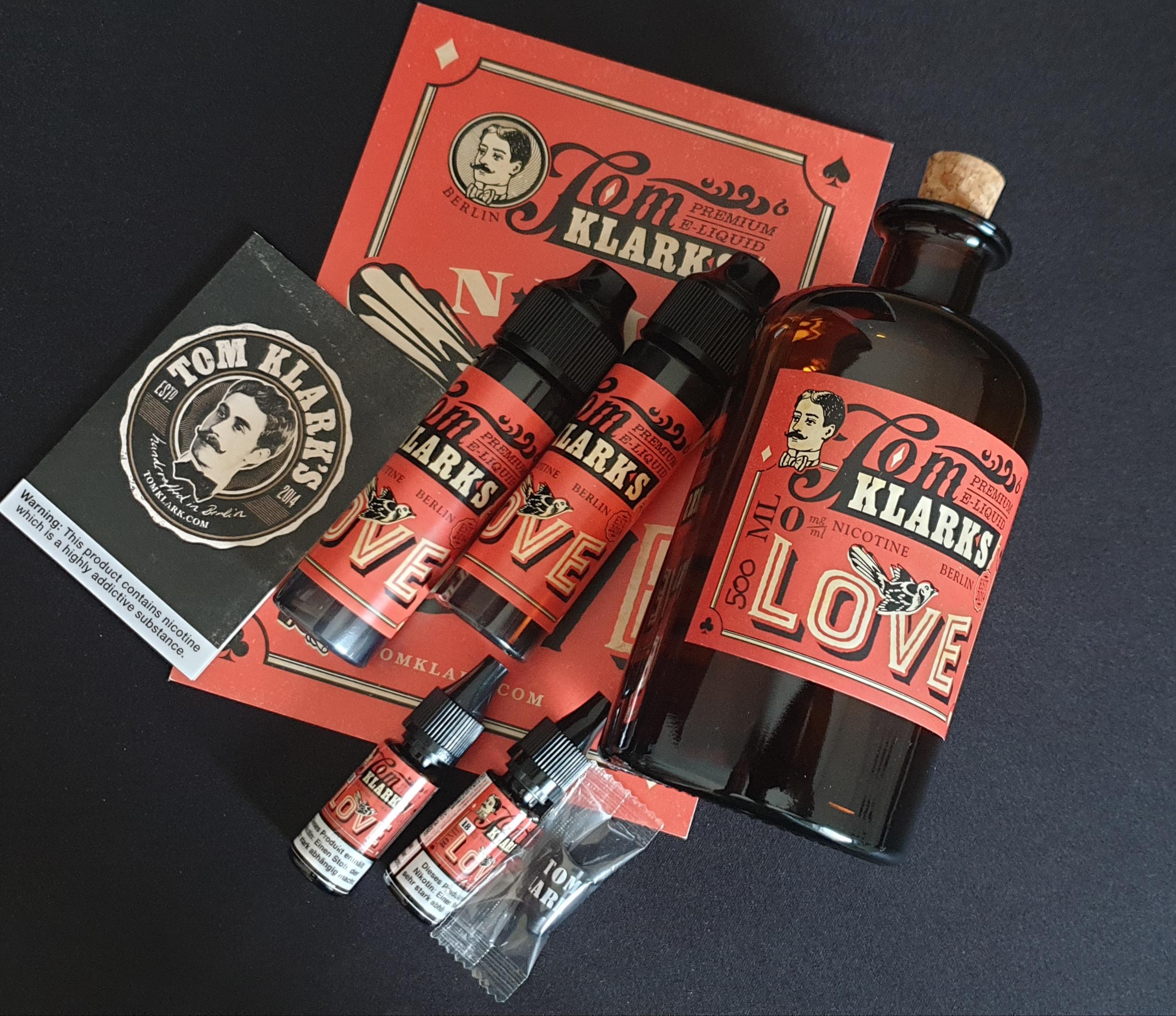 TOM KLARK Love *Special* 3mg - 120ml  inkl. Design Glasflasche
