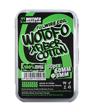 Wotofo Xfiber Wattesticks 3mm Cottonsticks 30 St.