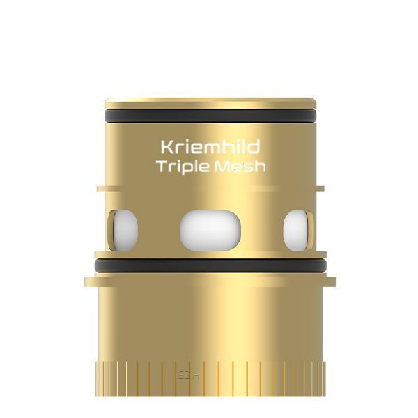 3 x Vapefly Kriemhild Triple Mesh Coil Verdampferkopf 0,15 Ohm GOLD