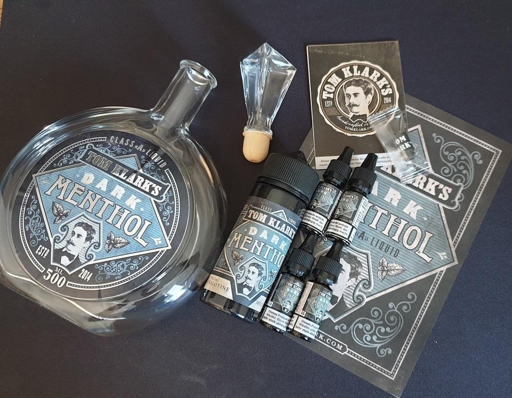 TOM KLARK Dark Menthol *Special* 6mg inkl. Design Glasflasche