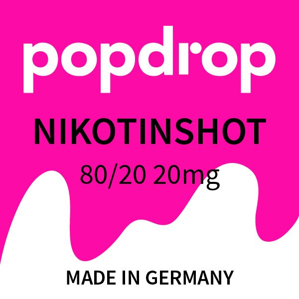 Popdrop Nikotinshot 80/20 10ml 20mg/ml