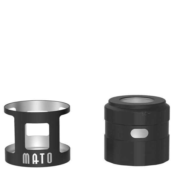 Vandy Vape Mato RDTA Tankshield und Topcap Farbe Matte Black