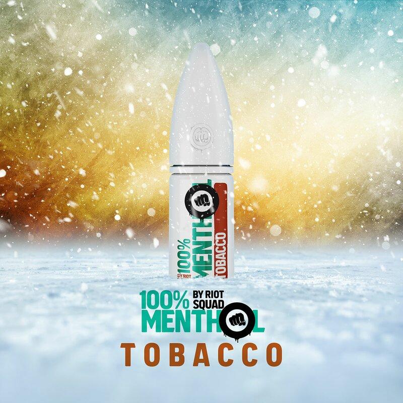 RIOT SALT - 100% Menthol Tobacco Hybrid Nic Salt 10ml - 5mg
