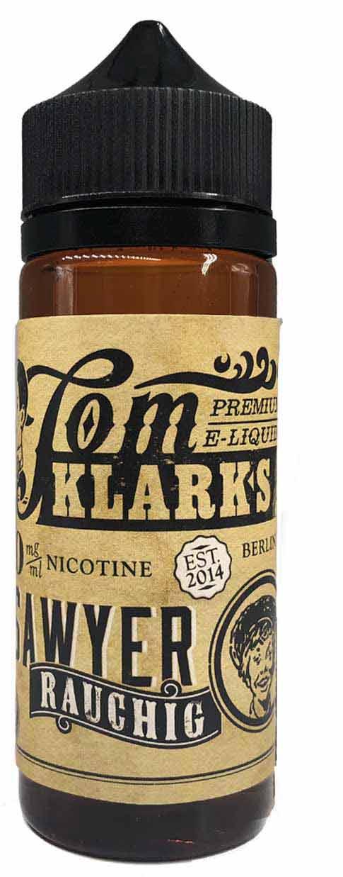 TOM KLARK Rauchig Premium Liquid 120ml 0mg ohne Nikotin