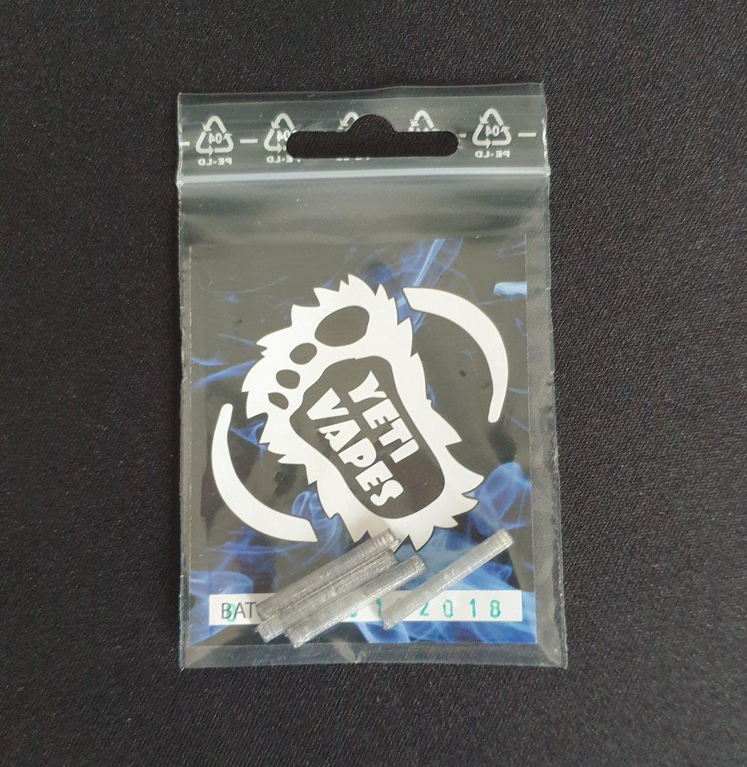Yeti Vapes Straws PET Ersatzdochte für Mato Artemis Profile RDTA 4er Pack