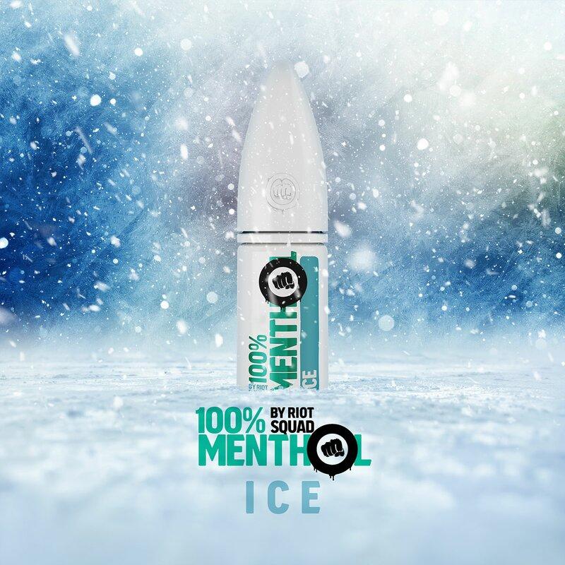RIOT SALT - 100% Menthol ICE Hybrid Nic Salt 10ml - 5mg