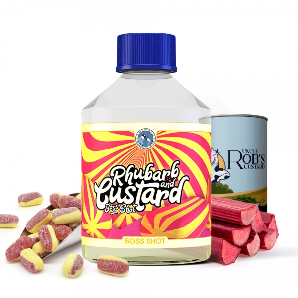 BOSS SHOT Rhubarb & Custard 250ml by Flavour Boss