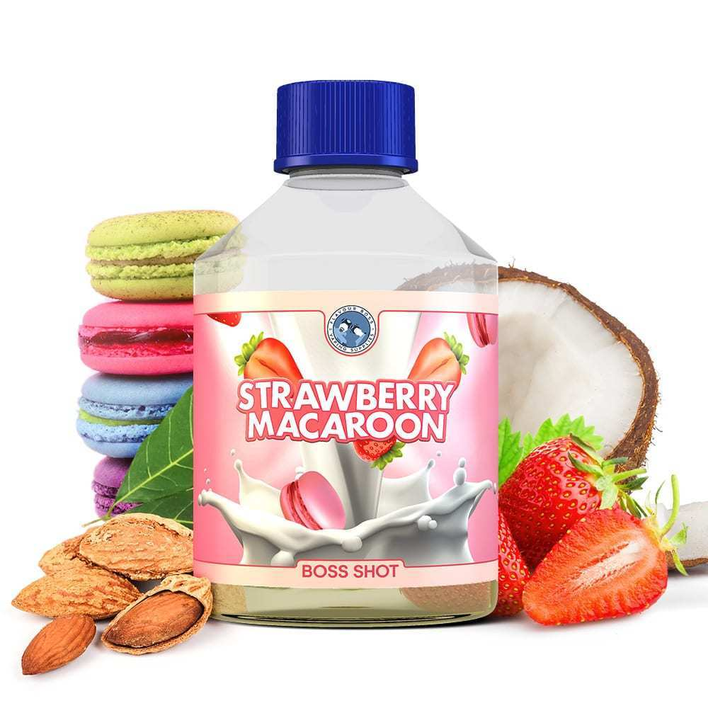 BOSS SHOT Strawberry Macaroon by Flavour Boss 250ml