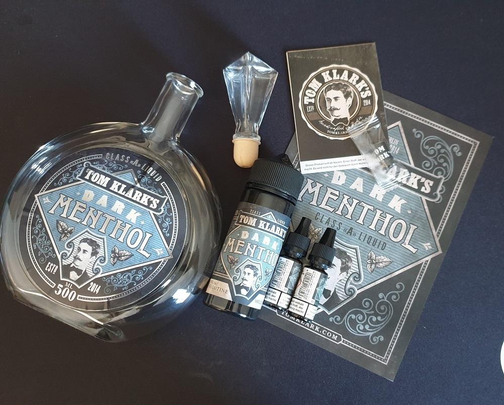 TOM KLARK Dark Menthol *Special* 3mg inkl. Design Glasflasche