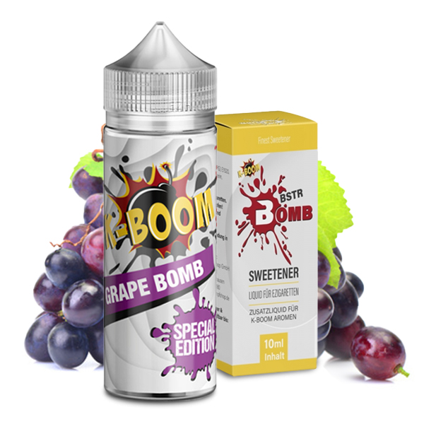 K-Boom Grape Bomb / BSTR Bomb Sweetener Bundle